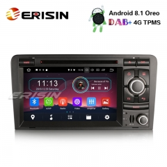 "Erisin ES3973A 7 ""Android 8.1 Autoradio DAB + GPS TPMS DTV-IN BT CD-Satelaval für AUDI A3 S3 RS3 RNSE-PU"