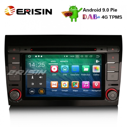 "Erisin ES4871F 7"" Android 9.0 Autoradio Fiat Bravo GPS Wifi Satellit DAB + Bluetooth OBD2 DVR 4G DVD"