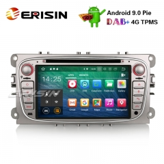 "Erisin ES4809FS 7"" Android 9.0 Autoradio DAB + GPS DVR DTV 4G CD BT für Ford Mondeo Focus S / C-Max Galaxy"