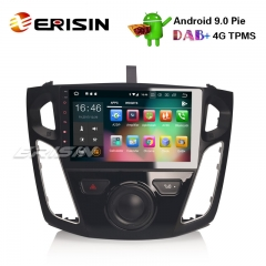 "Erisin ES4895F 9"" Ford Focus Android 9.0 Autoradio GPS DAB + DVR WiFi OBD2 DTV Bluetooth Stereo 4G"