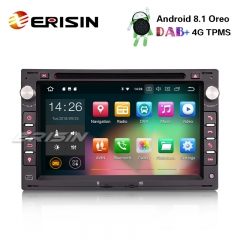 "Erisin ES3886V 7"" Android 8.1 Car Stereo for VW Golf Passat Polo Bora Seat Peugeot 307 DAB+ GPS DVD 4G WiFi"