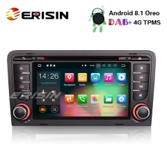 "Erisin ES3847A 7"" Android 8.1 Car Stereo GPS SAT NAV OBD DVR DAB+ DTV BT CD AUDI A3 S3 RS3 RNSE-PU"