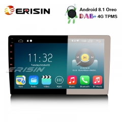 "Erisin ES3310U 10.1"" Android 8.1 Double Din Car Stereo DAB+ GPS WiFi DTV BT TPMS OBD 4G Sat Nav"