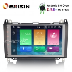 "Erisin ES7492B 9"" Android 8.0 Car Stereo DAB+GPS Mercedes A/B Class Sprinter Vito Viano VW Crafter"