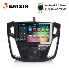 "Erisin ES7895F 9"" Octa-Core Android 8.0 Car Stereo GPS Sat Nav DAB+ DVR WiFi OBD DTV FORD Focus"