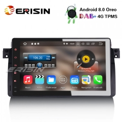 "Erisin ES8896B 9"" Android 8.0 Car Stereo DAB+GPS Wifi BMW 3 Series E46 318 320 M3 Rover75 MG ZT"