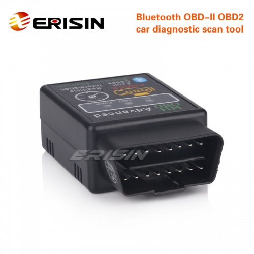 Erisin ES360 ELM327 Bluetooth V1.5 OBDII Reader Car Diagnostic Android Wireless Scanner Tool