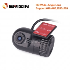 Erisin ES456 HD 720P G-sensor In Dash Car Camera Video Recorder DV-Recorder DVR Cam