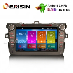 "Erisin ES2916C 8"" DAB + Android 9.0 Pie Auto Stereo GPS WiFi DVR TPMS TOYOTA COROLLA 2007-11 Sat Nav"