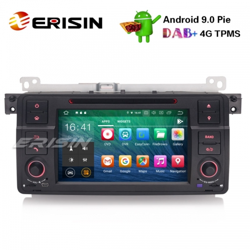 "Erisin es7962b-64 7"" android 9.0 auto stereo gps dab + cd bluetooth dtv dvr sd bmw e46 m3 rover75 mg zt"