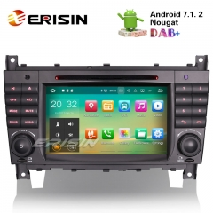 "Erisin ES3769C 7"" Android 7.1 Benz Car Multimedia DVD GPS Navi System"