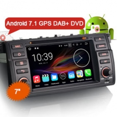 "Erisin ES4746B 7"" Android 7.1 DAB+ DVR GPS Car Stereo DVD for BMW E46"
