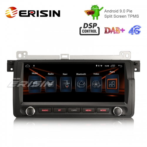 "Erisin ES2906B 8.8"" HD Android 9.0 Autoradio GPS Satellitennavigation DAB + DSP für BMW 3er E46 318 M3 Rover75 MG ZT"
