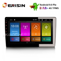 "Erisin ES2912U 10.1"" Android 9.0 Autoradio GPS WiFi DAB + / DVR / DVB-T2 / TPMS-IN OBD Satellitennavigation 4G BT"