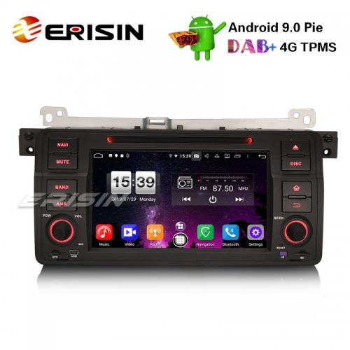 "Erisin ES7746B 7"" 8-Core Android 9.0 BMW E46 318 320 325 M3 Rover75 MG ZT Autoradio GPS DAB + CD DVD BT"