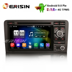 "Erisin es7737a 7"" android 9.0 dab + auto stereo gps tpms dvr dvb-t / t2 swc wifi für audi a3 s3 rs3"