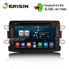 "Erisin ES7783D 7"" Android 9,0 Renault Dacia Duster Logan Dokker Lodgy DAB + 4G Wifi Autoradio GPS-System"