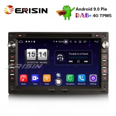 "Erisin ES7709V 7"" Dab + android 9.0 auto stereo gps dvd player für vw golf passat polo t5 multivan jetta peugeot"