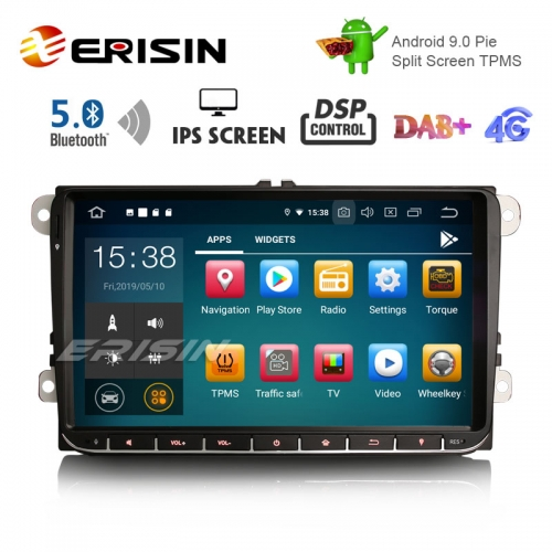 "Erisin ES8028V 9 ""DAB + Android 9.0 Auto GPS IPS DSP BT5.0 für VW Passat Golf 5/6 Polo Tiguan Eos Caddy Sitz"