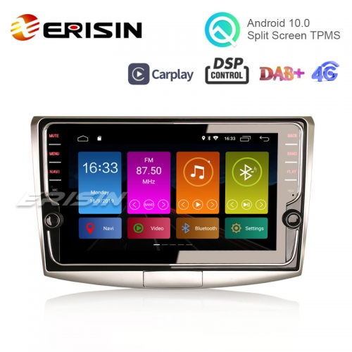 "Erisin ES3125P 9"" DAB+ DSP Android 10.0 Autoradio GPS OBD2 Wifi TPMS CarPlay for VW Passat B6/B7/CC"