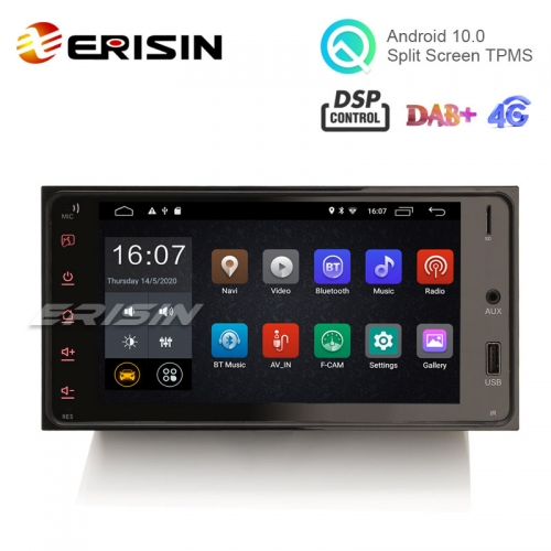"Erisin ES2643C 7"" DSP Android 10.0 Car Radio GPS 4G WiFi DAB+ for Toyota Corolla RAV4"