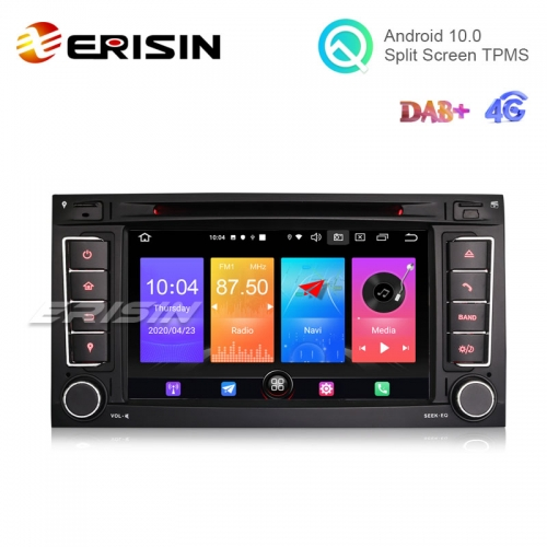 "Erisin ES2756T 7"" Android 10.0 Car DVD Player GPS DAB+ 4G CarPlay for VW TOUAREG T5"