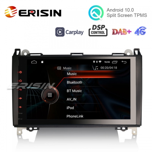 "Erisin ES4292B 9"" Android 10.0 OS Car GPS 4G TPMS DAB+ Apple CarPlay DSP for BENZ A/B-Class"