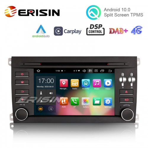 "Erisin ES8197S 7"" Android 10.0 Car Stereo for Porsche Cayenne DSP CarPlay & Auto GPS TPMS DAB+ 4G"