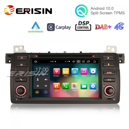 "Erisin ES8162B 7"" BMW E46 Car DVD Player 64G Android 10.0 Car Stereo DSP CarPlay & Auto GPS TPMS DAB+ 4G"
