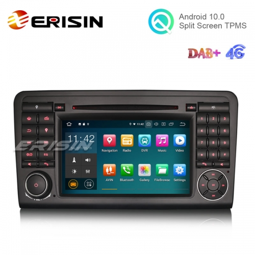 "Erisin ES5183L 7"" Android 10.0 Car DVD with GPS Radio WiFi BT DAB TPMS for Mercedes Benz ML-Class W164"