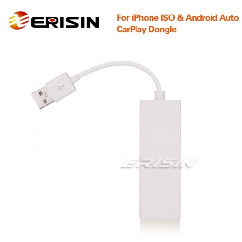 Erisin ES222 CarPlay Dongle USB Android Car SatNav Box Mirror BT For iPhone IOS Android