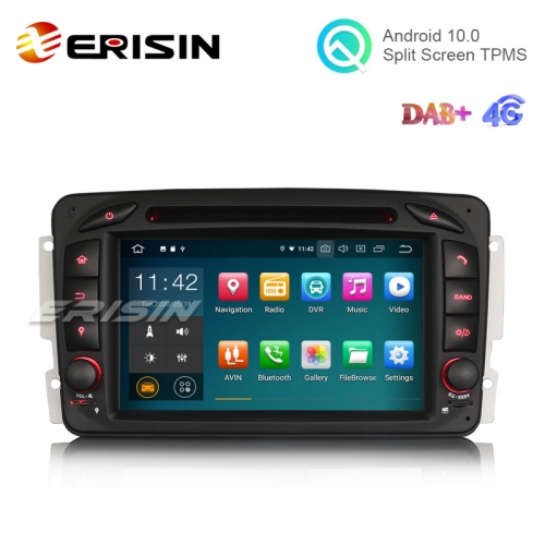"Erisin ES5163C 7"" Android 10.0 Car DVD GPS Radio WiFi BT for Benz W463 W203 G-Class Viano Vito"