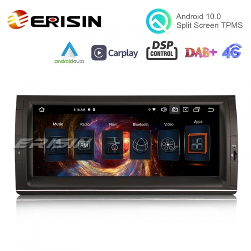 "Erisin ES8153B 10.25"" Android 10.0 Car Stereo for BMW E53 E39 M5 CarPlay & Auto GPS TPMS DAB+ DSP DVR Canbus"