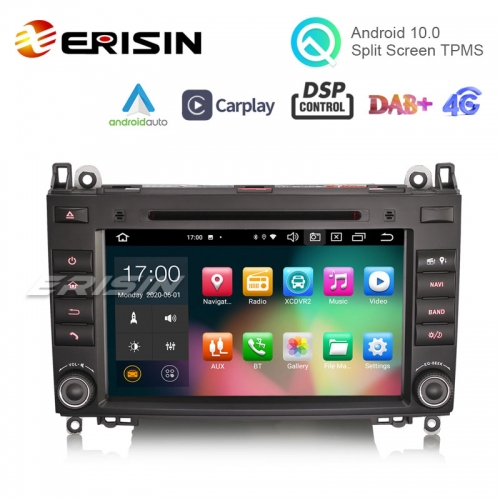 "Erisin ES8121B 8"" Octa-Core Android 10.0 Car DVD for Mercedes Benz Sprinter Viano Vito CarPlay Auto 4G GPS TPMS DVR DSP GPS System"